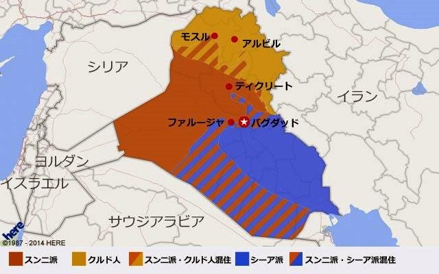 イラクの地図。出典はCNN