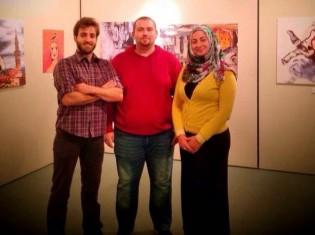 「シリアの鼓動」の主催団体・京都シリア人学生の会のメンバーら