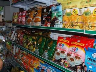 C&C内の風景。輸入品だけでなく国内産の商品も並ぶ