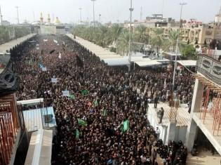 1023西森さん、イラク:フサインが殺害された都市カルバラのアーシュラー当日の様子(BBCより)
