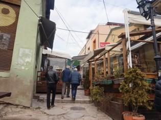 マケドニアの首都スコピエの市街地