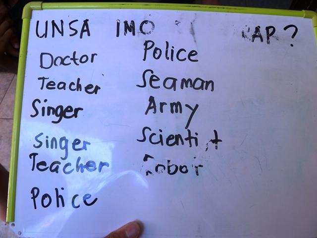 シェルターで子ども11人に将来の夢を聞いたところ、教師・警察・歌手という答えが最も多かった(2票ずつ)。そんな子どもたちの夢を叶えるためにも、保護だけでなく、社会復帰のプロセスもより考えていく必要がある