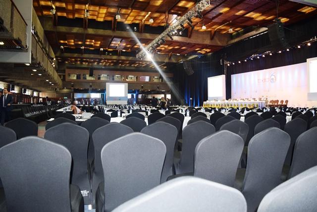ナイロビのTICAD VI本会議場。本会議には安倍首相も出席する予定