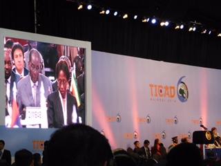 TICAD VIでジンバブエと日本のパートナーシップについて語るジンバブエのムガベ大統領(ケニア・ナイロビ)