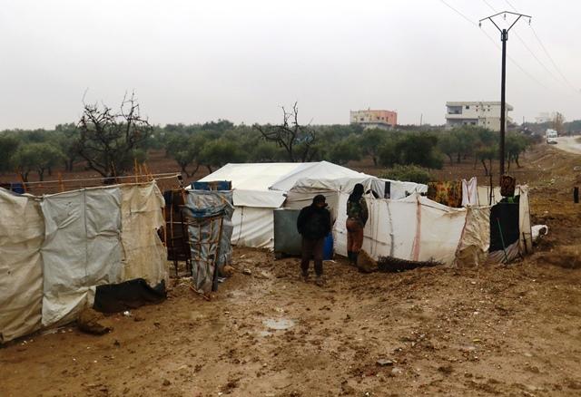シリアの北部に位置し、トルコとの国境沿いにあるシリア国内避難民キャンプ(ホサムさん提供)
