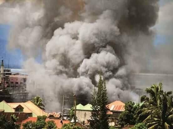 爆撃されたマラウイのようす(ノロリサ・アムボロトさんの友人が撮影)