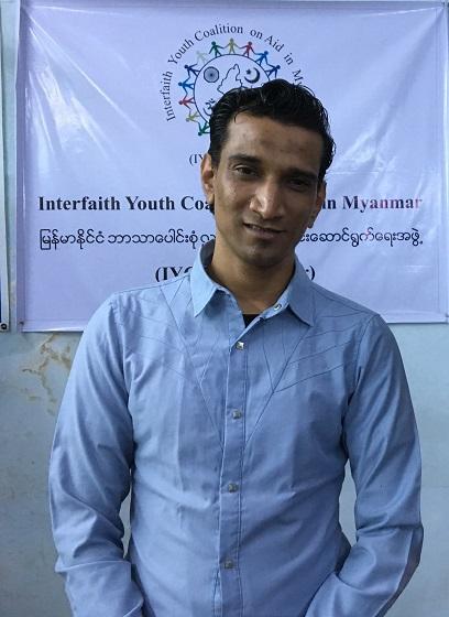 市民団体「IYCA(Interfaith Youth Coalition on Aid)」を創設者で責任者であるシャインさん。ムスリムと仏教徒の関係が悪化しているのは「フェイクニュースが原因だ」と話す