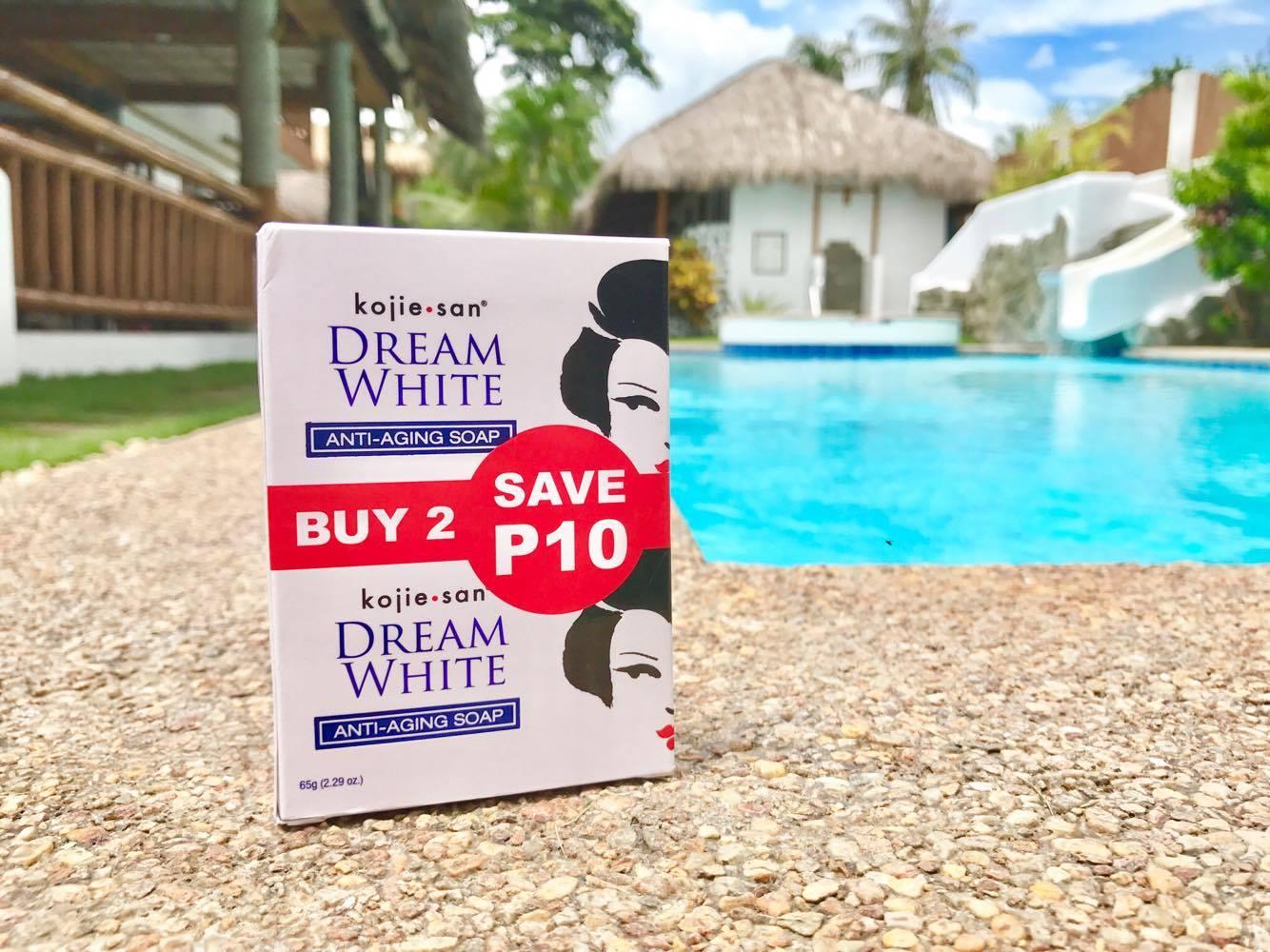 DREAM WHITE。2つで69ペソ(153円)。日本の舞妓を思わせる色白の女性がアイコン