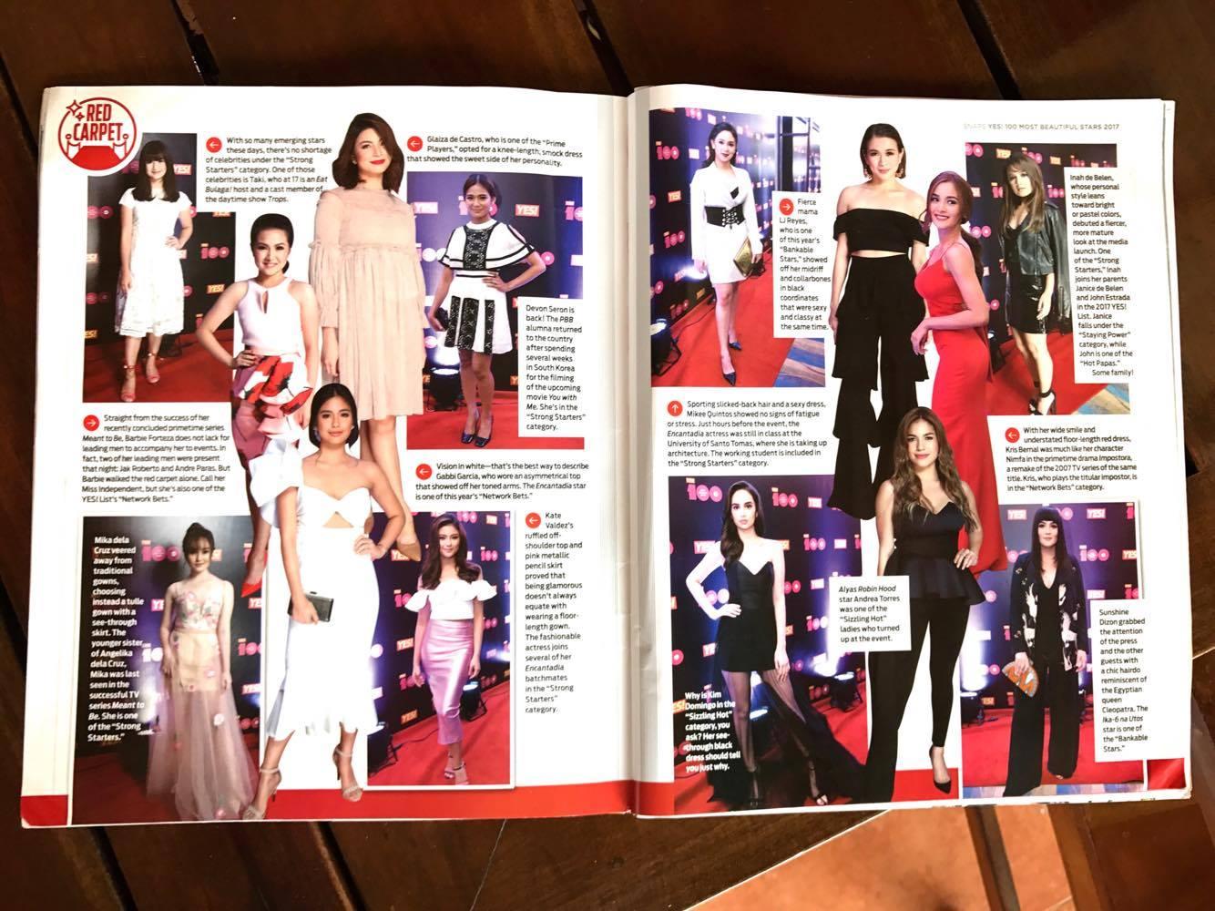 雑誌に載っている芸能人は色白のフィリピン人ばかり