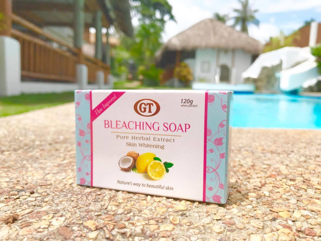 ワトソンズ(ドゥマゲティ・シティモール店)の売れ筋美白化粧品「BLEACHING SOAP(脱色ソープ)」1個88ペソ(約190円)
