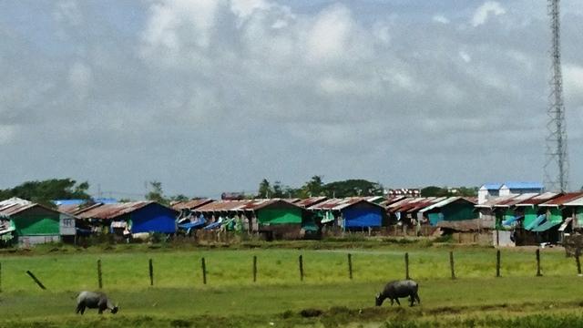 ミャンマー西部のラカイン州シットウェにあるロヒンギャ居住区。木村元彦氏撮影