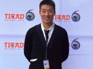 第6回アフリカ開発会議(TICAD VI)でganas記者として取材した森口雄太さん。「これまで日本で開かれていたTICADが初めてアフリカ開催された第6回会議。歴史的瞬間に立ち会えた」と興奮気味に語る