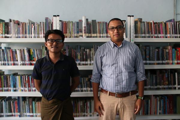 NGO「パンディタ」の共同設立者であるチャンダーチョーさん(右)とエーカインさん(左)