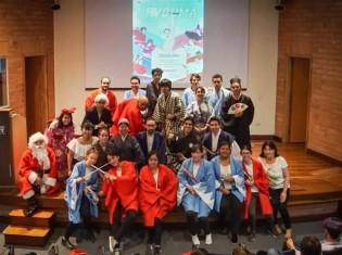 2019年のサンタプロジェクトのメンバー。この年の第1回公演はメデジン市内のEAFIT大学で行われた