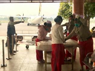 中国と国境を接するシャン州のラショー空港では、保健スポーツ省が2月上旬から臨時の検疫チームをつくり、対応にあたる