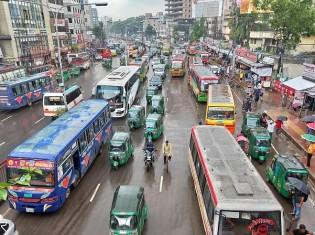 バングラデッシュ・ダッカの街並み(Alit SahaによるPixabayからの画像)
