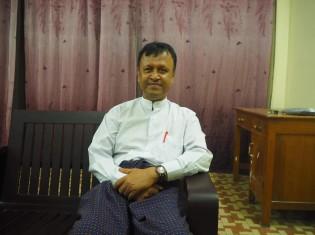 ロヒンギャの政党「民主人権党(DHRP)」のチョーソーアウン幹事長