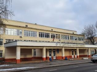 ミンスク市1番子供病院。ベラルーシの公立病院はソ連時代の建物をそのまま使用している場合が多い
