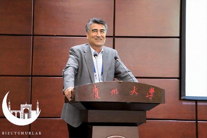タシポラット・ティップ氏。東京理科大学で博士号取得。新疆大学の学長だったが、拘束とほぼ同時に、新疆大学のホームページから名前が削除されていた