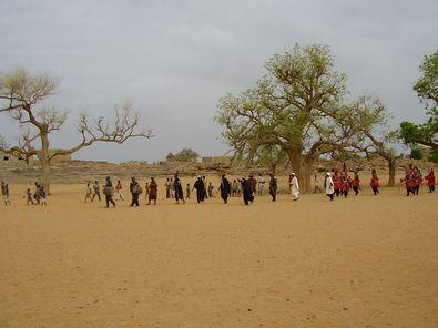 サハラ砂漠の中の村(提供:ウスビ・サコ学長)