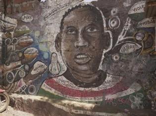 国際平和デーでアート360が描いたミューラル「ア・チョイス・フォー・ピース」。南スーダンなどで平和構築活動をするデファイヘイトナウが必要な資金を出した